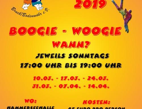 Neuer Grundkurs Boogie-Woogie 2019